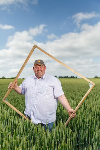 David Jones showing Farming is Magic one square metre at a time